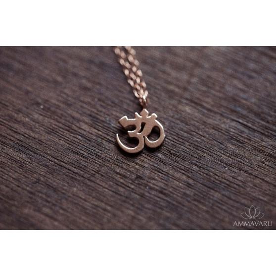 Om - Rose Gold necklace